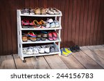 A Variety Of Colorful Shoes ...