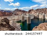 hoover dam and the colorado... | Shutterstock . vector #244157497