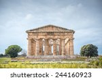 splendid ancient greek columns... | Shutterstock . vector #244160923