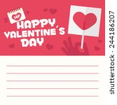 happy valentines day card... | Shutterstock .eps vector #244186207