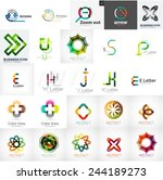 set of universal company logos... | Shutterstock .eps vector #244189273