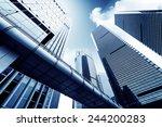metropolis of shanghai's modern ... | Shutterstock . vector #244200283