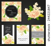 wedding invitation cards with... | Shutterstock .eps vector #244221847