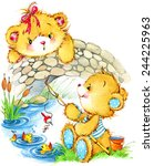 Teddy Bear Fisherman And...