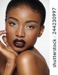 beautiful african woman. | Shutterstock . vector #244230997
