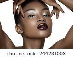 beautiful african fashion model ... | Shutterstock . vector #244231003