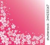 cherry blossom background | Shutterstock .eps vector #244232167