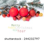 christmas decoration.... | Shutterstock . vector #244232797