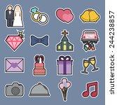wedding icon | Shutterstock .eps vector #244238857