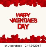 happy valentines day card.... | Shutterstock .eps vector #244242067