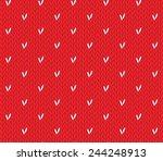 saint valentine's day seamless... | Shutterstock .eps vector #244248913