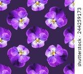 Seamless Pattern With Pansies...