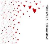 red heart on white background | Shutterstock .eps vector #244266853