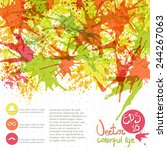 vector background with paint...   Shutterstock .eps vector #244267063