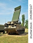 Small photo of Air defense mobile radar armored vehicle on position