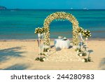 Wedding Ceremony On A Beach By...
