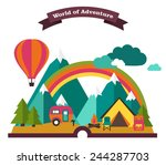 book of travel | Shutterstock .eps vector #244287703