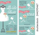 bridal shower invitation set... | Shutterstock .eps vector #244295467