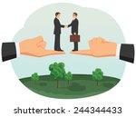 handshake of two small...   Shutterstock .eps vector #244344433