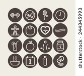 set of simple icons for health... | Shutterstock .eps vector #244345993