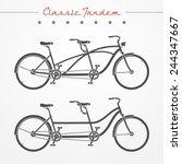 Set Of Tandem Bicycles In...