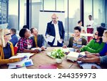 business people conference...   Shutterstock . vector #244359973