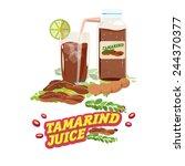 tamarind water. juice with... | Shutterstock .eps vector #244370377