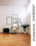 modern creative workspace.    Shutterstock . vector #244380967
