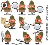 detective pack  set of 9... | Shutterstock .eps vector #244386463