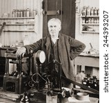 thomas a. edison  1847 1931  ... | Shutterstock . vector #244393207