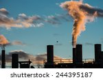 Air Pollution From Smokestacks...