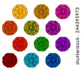 set of elegant silk colored...   Shutterstock .eps vector #244395973