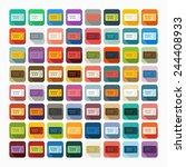 flat design  ticket | Shutterstock . vector #244408933