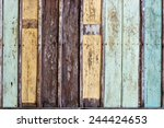 Wood Texture With Painting...