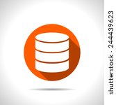 icon of database | Shutterstock .eps vector #244439623