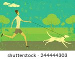 Running With Your Dog A Woman...