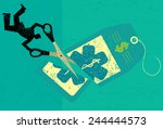 cutting health care costs a... | Shutterstock .eps vector #244444573
