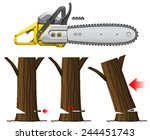 chain saw safety   Shutterstock .eps vector #244451743