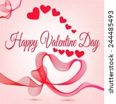 abstract happy valentine day... | Shutterstock .eps vector #244485493
