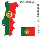 flag of the portuguese republic ...   Shutterstock .eps vector #244494457