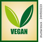 vegan menu design  vector... | Shutterstock .eps vector #244503223