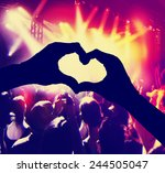 a crowd of people at a concert ... | Shutterstock . vector #244505047