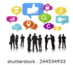 silhouettes of business people... | Shutterstock .eps vector #244534933