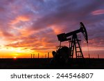 operating oil and gas well... | Shutterstock . vector #244546807