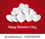 vector   valentines day heart... | Shutterstock .eps vector #244564453