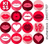 valentine background pattern. | Shutterstock .eps vector #244577707
