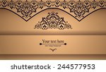 luxurious victorian retro...   Shutterstock .eps vector #244577953