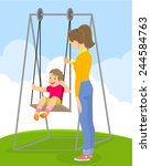 vector illustration of a  child ... | Shutterstock .eps vector #244584763
