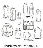 milk. packaging. vector...