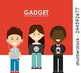 gadgets tech design  vector... | Shutterstock .eps vector #244592677
